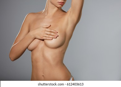 Hot girl covering naked body with hands Hands Covering Breast Images Stock Photos Vectors Shutterstock