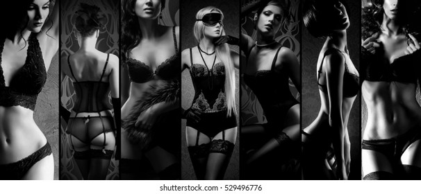 Black and white sexy girls, prity pussy lips
