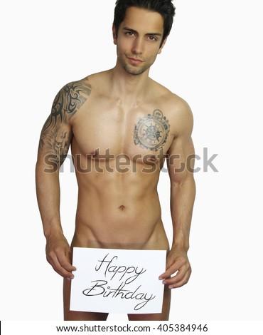 Happy birthday from sexy men