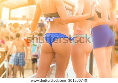Girls wearing nude at beach