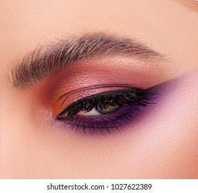 Sexy lady with Fashion make-up