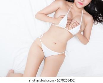 sexy lady in mini bikini body parts big boobs