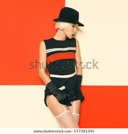 7c421588b66e Sexy Lady Retro Style Cabaret vintage clothing. Minimal Fashion. Art Design