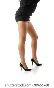 Sexy legs isolated on white background