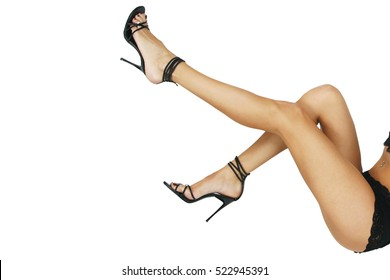 sexy legs on white background