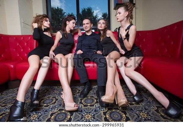 sexy lovelace man surrounded by hot women wanting of proposal from him