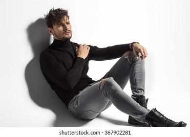 Sexy male model posing
