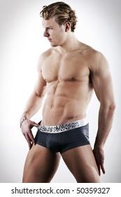 sexy male model wearing underwear