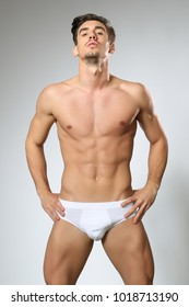 Sexy Male Model In white Underwear