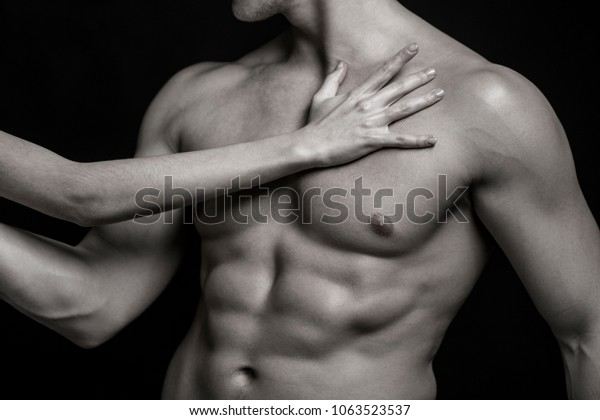 Men naked strong sexy Handsome Young