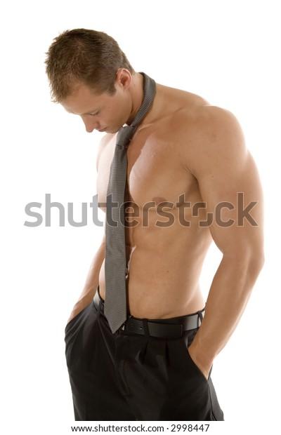 Sexy man thinking