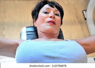 Sexy mature female muscle
