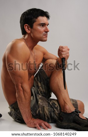 The sexy military man