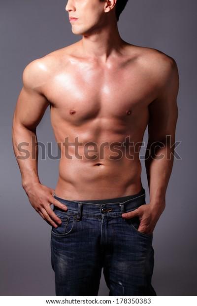 Sexy muscle asian men