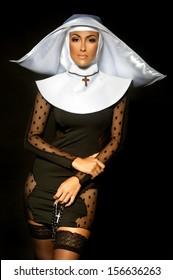 Sexy nun. Halloween