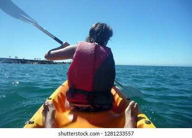 sexy people kayaking