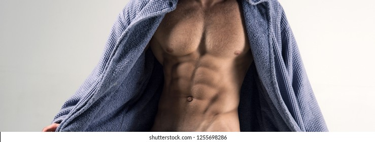 Sexy perfect temptation. Muscular men with torso. Temptation for women. Flirting. Sexy men with athlete body