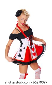 Sexy queen of hearts from Alice in Wonderland