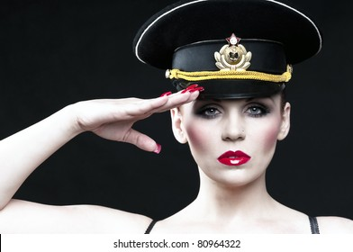 Sexy russian officer