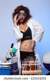 Sexy Science Student in the Laboratory