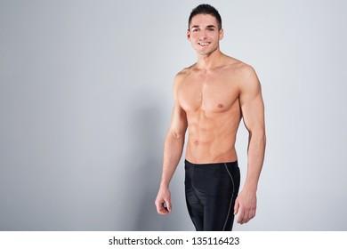 Sexy smiling man