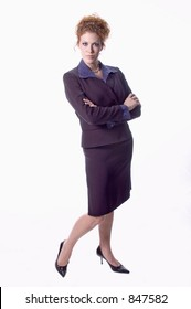 Sexy stance of executive businesswoman