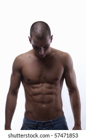 Sexy well trained male's body with great abs (torso)