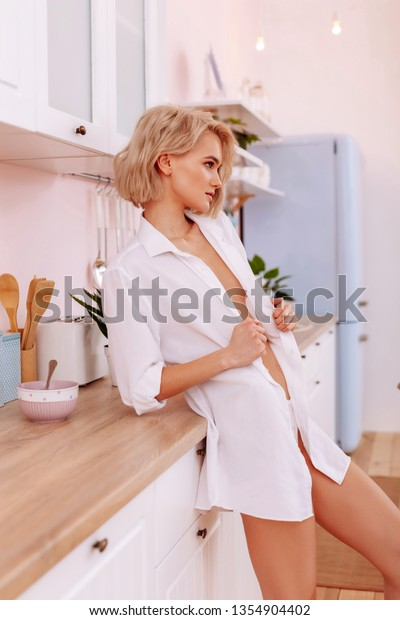 Sexy Wife Young Sexy Wife Wearing Stock Photo Edit Now 1354904402