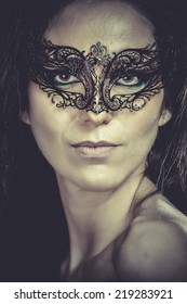 Sexy woman with  arabic mask