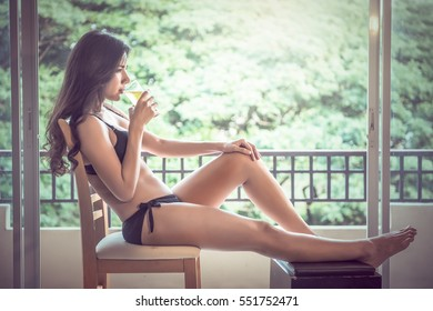 Sexy woman with beer glass
