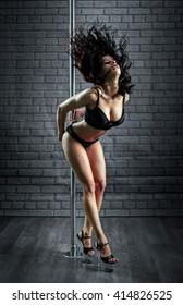 Sexy woman dance in a studio