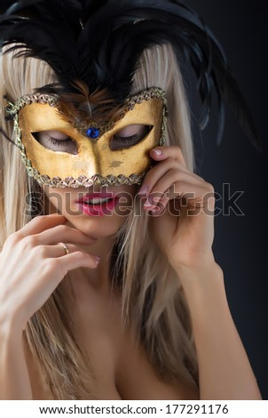 a2617f54f7ea8 Sexy Woman Mysterious Venetian Carnival Mask Stock Photo (Edit Now ...