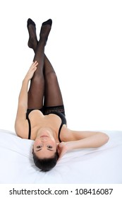 sexy woman on bed