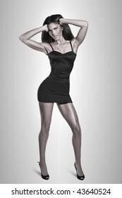 Sexy woman in tight dress