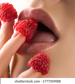 Sexy womans lips. Erotic concept. Sexy lips with berries. Oral sex. Erotic woman secret and sex symbols concept. Orgasm. Talk sex. Lubricant