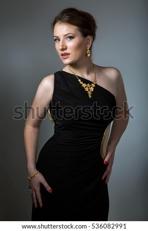 451dbf1f4d Sexy Young Brunette Woman Wearing Black Stock Photo (Edit Now ...