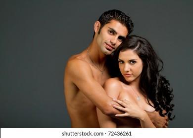 Blonde naked models