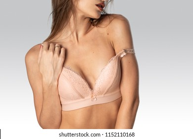 sexy young girl in beautiful lingerie in studio