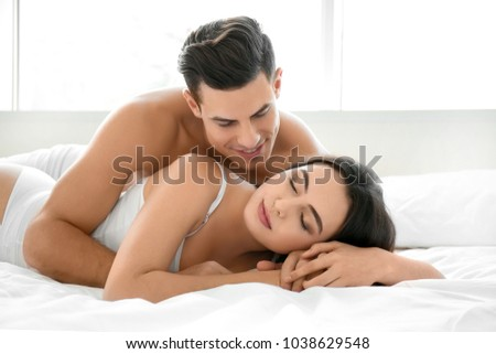 Sexy Lovers In Bed