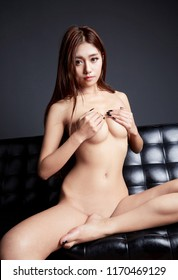 Sexy young woman with big breast. Beautiful body of woman