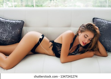 Brilliant Woman Lying Lingerie Images Stock Photos Vectors Uwap Interior Chair Design Uwaporg