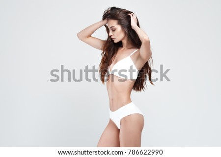 578ff0aea Sexy Young Woman Underwear On White Stock Photo (Edit Now) 786622990 ...