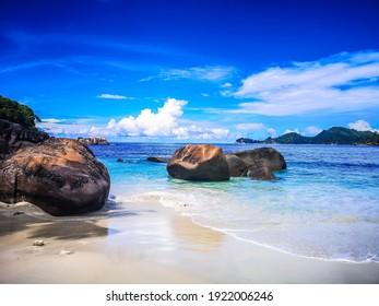 Seychelles Mahé Beach and Sea