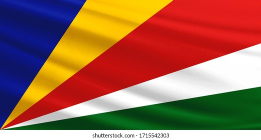 Seychelles flag with fabric texture