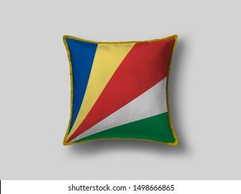 Seychelles Flag Pillow & Cusion Cover. Seychelles cushion cover. Flag Pillow Cover with Seychelles Flag