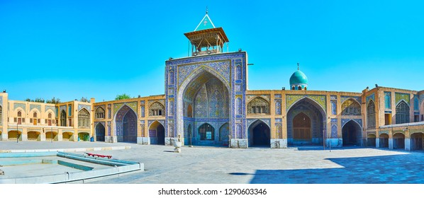 Seyed Mosque is one of the most beautiful city landmarks of qajar Era, famous for its unique tiling on floral, geometric and calligraphic themes, Isfahan, Iran.
