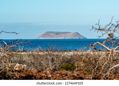 SEYMOUR NORTH, GALAPAGOS - OCT 26, 2018 : the Daphne Major islet seen from Seymour Island on October 26, 2018.