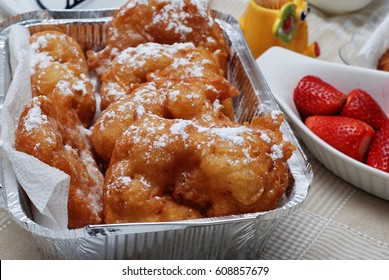 Sfenj or sfinj - Moroccan Doughnuts or Fritters.