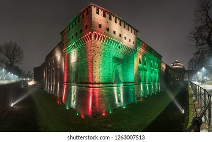 Sforza Castle, Castello Sforzesco, is in Milan, northern Italy. It was built in the 15th century by Francesco Sforza, Duke of Milan, on the remnants of a 14th-century fortification.