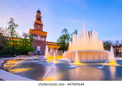 Sforza Castle of Milan in northern Italy.